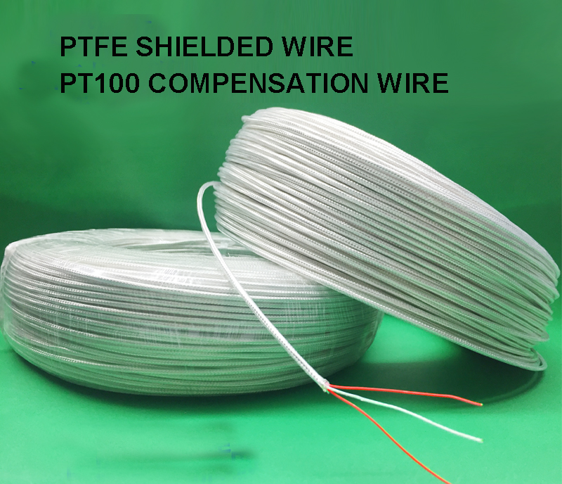 20M PT100 Temperature line 3*<font><b>7</b></font>*0.15 3 <font><b>core</b></font> silver plated PTFE shielded <font><b>wire</b></font> PT100 compensation <font><b>wire</b></font> image