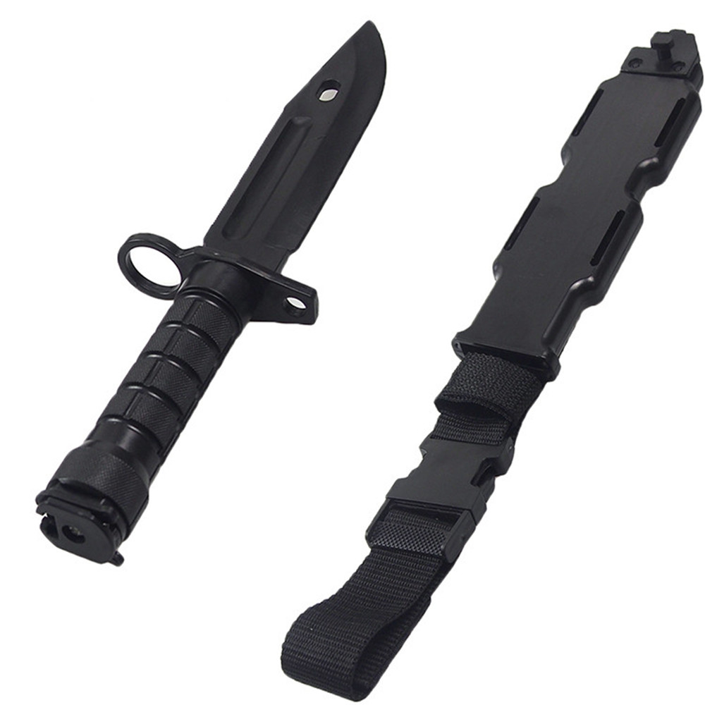 Soft Rubber Plastic M9 Style Knife Bayonet With Sheath Dummy Model Kit Not The Real Knife