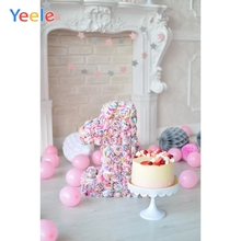 Yeele 1st Birthday Photozone воздушные шары торт интерьер фотографии фоны персонализированные фотографические фоны для фотостудии