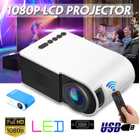 7000 lumens Mini Projector Portable Full HD 3D Projector TFT LED LCD Home Theater Entertainment Projectors Video Multi media