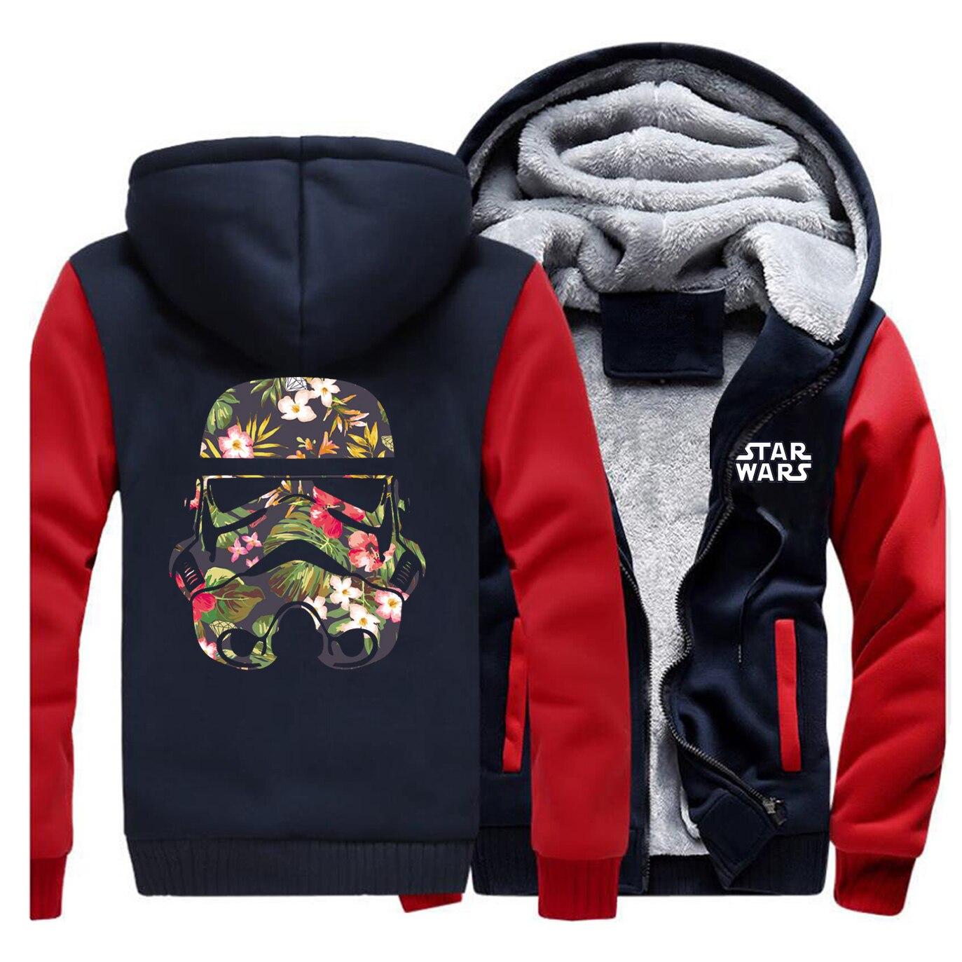 Men Raglan Star Wars Hooded Sweatshirt Trend Printing Hoodie Collar Long Sleeve Fleece Jackets 2019 Autumn Winter Fashion Coats