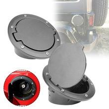 Car Accessories Fuel Tank Cap Aluminum Filler Door for Jeep Wrangler JK 2007-2018 Oil