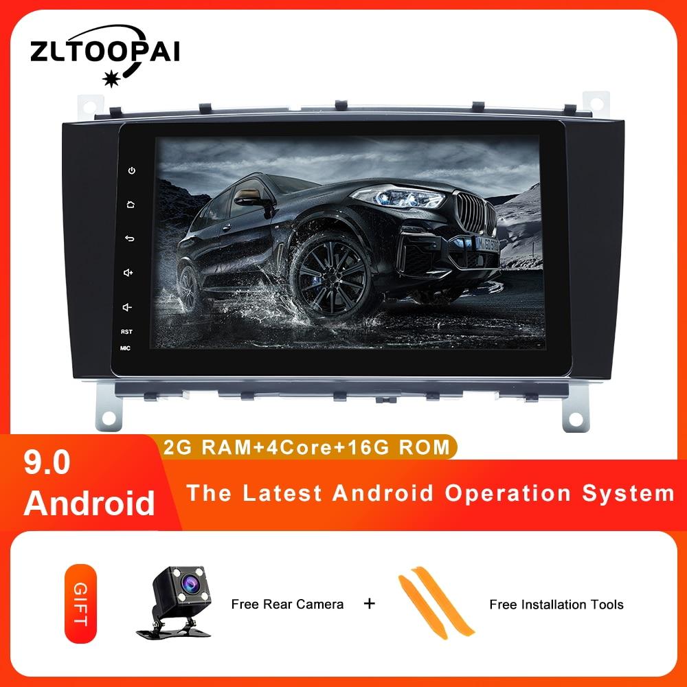 ZLTOOPAI 2 Din Auto Radio Android 9 pour Mercedes Benz W203 CLK200 CLK22 C180 C200 CANBUS voiture multimédia lecteur vidéo GPS DVR