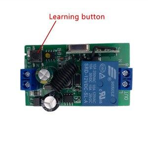 Image 5 - Универсальный беспроводной пульт дистанционного управления 433 МГц, переменный ток 110 В 220 В, 2 шт., 1 канальный модуль релейного приемника и 1 шт. радиочастотный 433 МГц Rem
