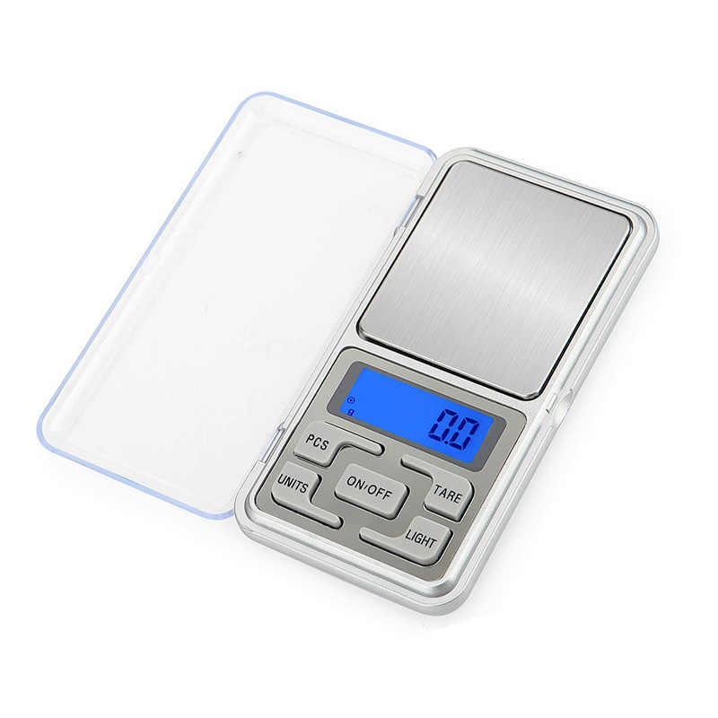 1Pc Mini Digital jewelry Scale 100/200/300/500g 0.01/0.1g Accuracy Backlight Electric Pocket for Jewelry Gram Weight for Kitchen