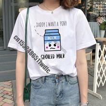 Женская футболка harajuku милая летняя повседневная одежда из