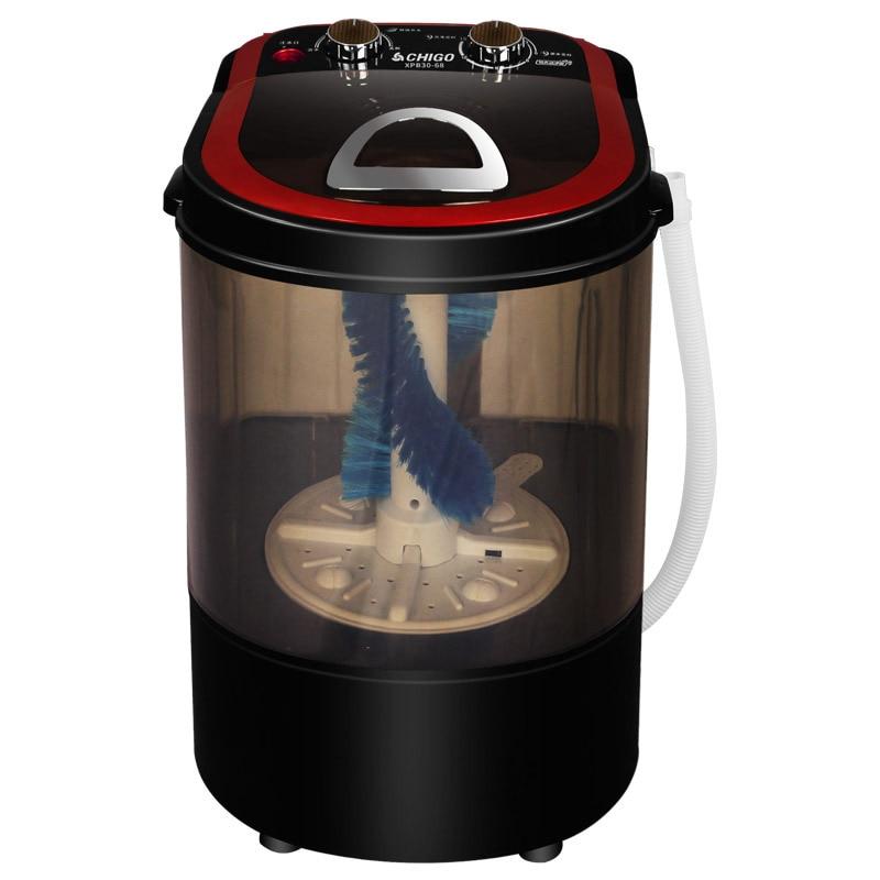 3KG UV Blue Light Sterilizer Mini Washer For Shoes Semiautomatic Shoes Washer Machine Shoe Brusher Portable Washing Machine