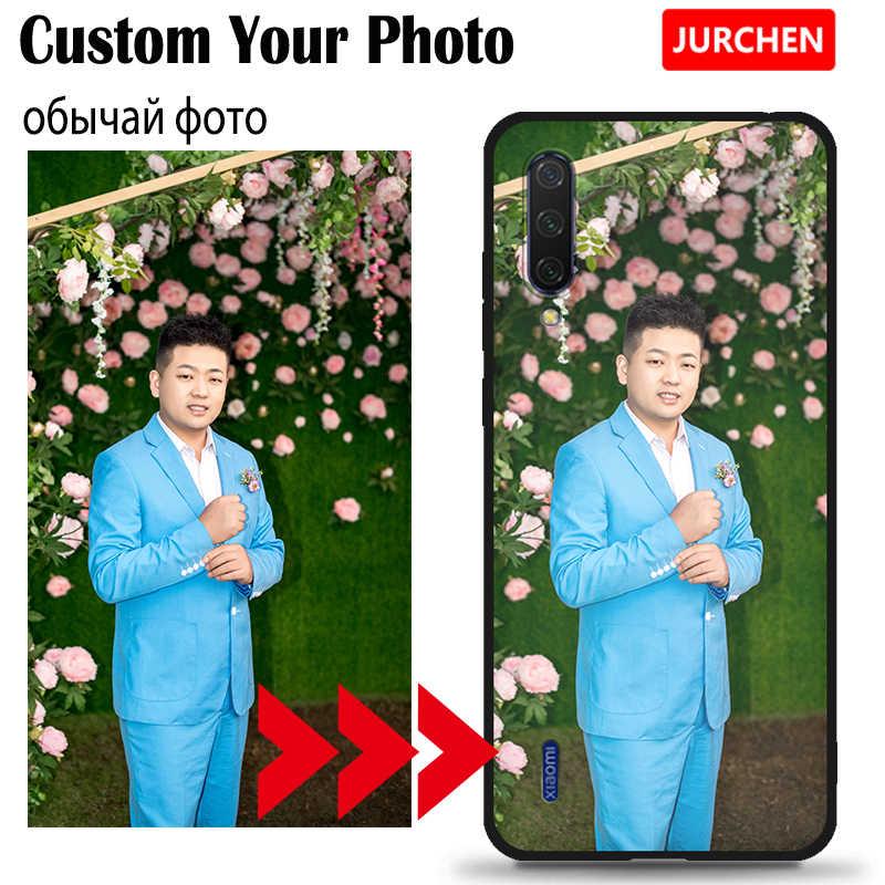 JURCHEN Custom Case Per Xiao mi rosso mi 6A 6 CC9E 4A mi 8 9 SE A2 A3 Lite NOTA 10 Pro 4X 7 Più 5A Cassa Del Telefono Custo mi zed Foto Logo