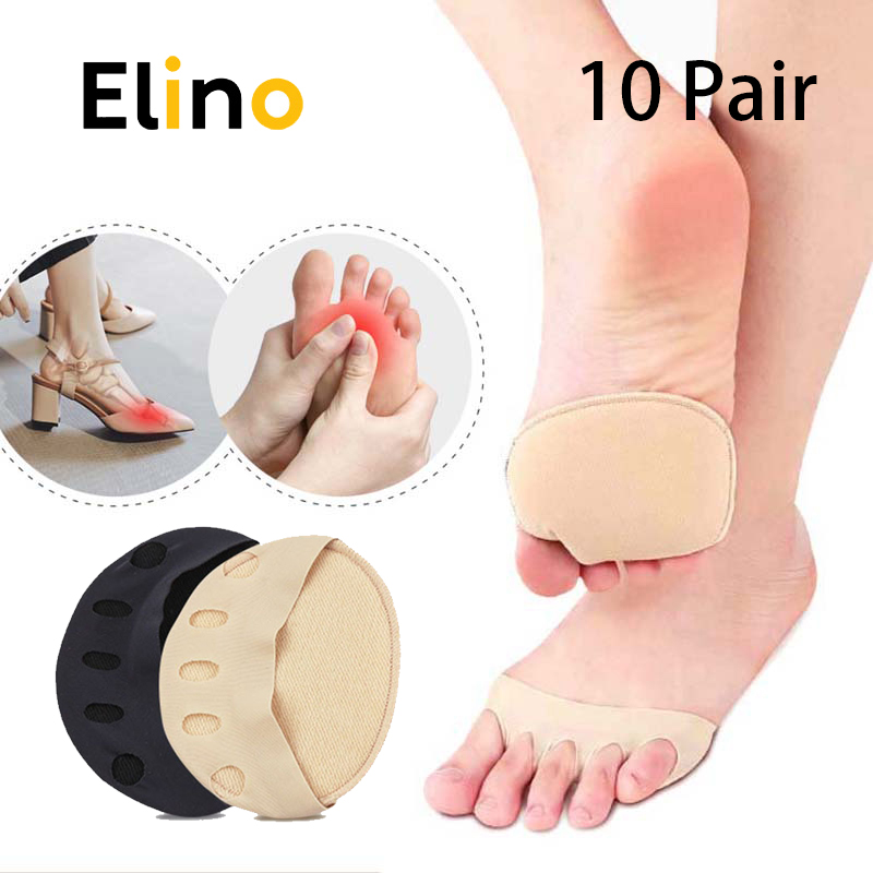 10 Pair Forefoot Pads Women High Heels Half Insoles Five Toes Insole Foot Care Calluses Corns Relief Feet Pain Massaging Toe Pad