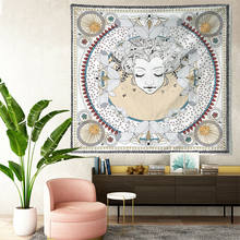 Sun and Moon Boho Tapestry Hippie Wall Hanging Bedspread Throw Cover Home Decor(China)