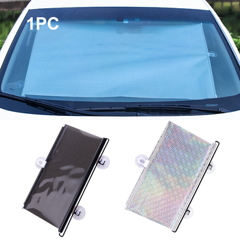 Car Sun shade Car Automatic Roller Blind Suction Cup Retractable Curtain Interior Shade Sunshade PVC Insulated Window Car Curtai image