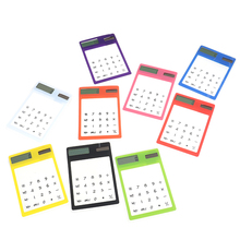 8 Digit Touch Screen Ultra slim Transparent Solar Stationery Clear Scientific Calculator use for Student School Office