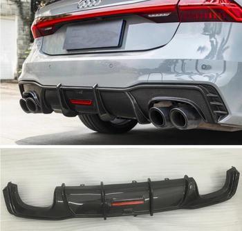 REAL CARBON FIBER REAR BUMPER TRUNK LIP SPOILER DIFFUSER For Audi A7 S7 RS7 2019 2020 2021