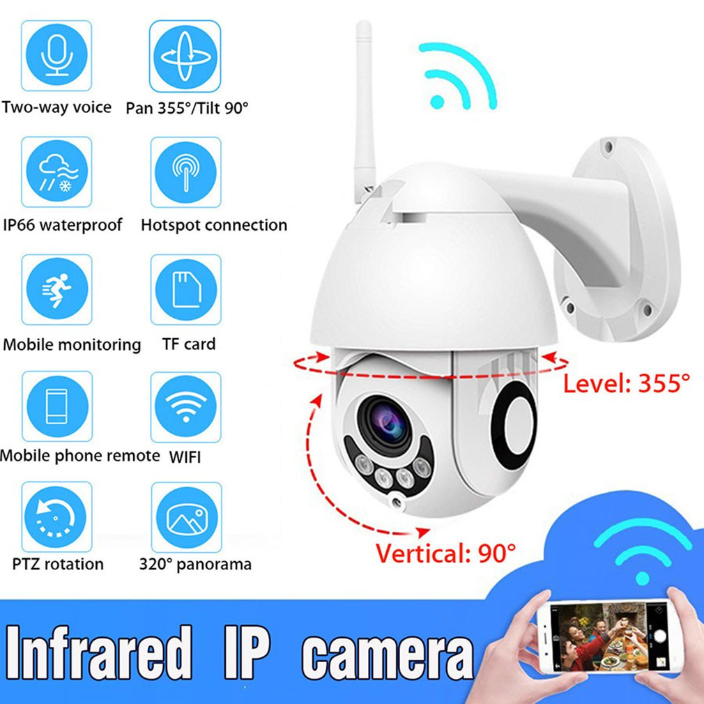 HD 1080P Wifi PTZ IP Camera Outdoor 2MP Wireless Security Speed Dome Camera IR 30M CCTV Surveillance Cameras Home Security NEW