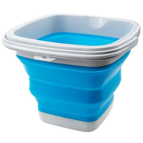 10l 5l dobravel cozinha acampamento quarto dobravel balde de silicone plastico acampamento ao ar livre