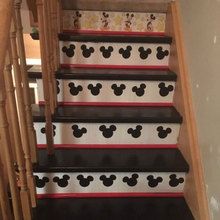 30 Pcs/set Mickey Mouse Vinyl Cartoon Stairs Decals Party Cup Envelope Seal Sticker Home Decor 1st Birthday Wallpaper Gift 3684