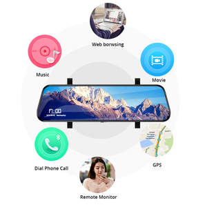 Image 3 - E ACE Android 4G GPS Navigators 10 Inch Car Dvr 1080P Video Recorder Rearview Mirror DVRs With WiFi Buletooth Android ADAS