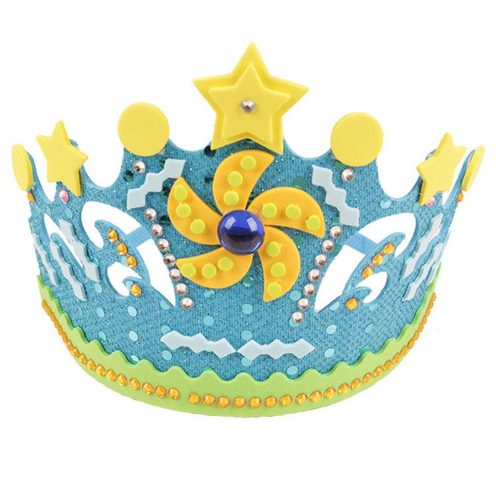 Children Flowers Stars EVA Foam Paper Sequins Crown DIY Art Craft Toy Party Hat