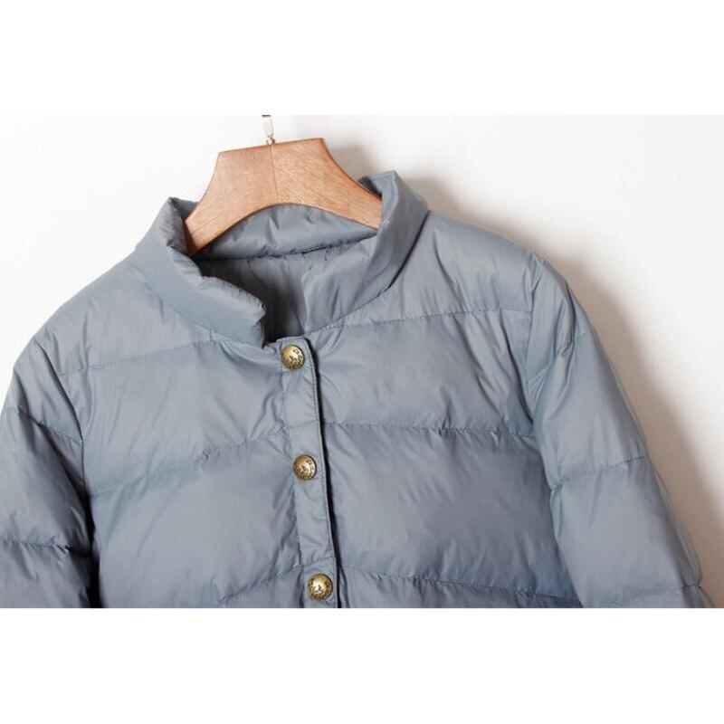 SEDUTMO Winter Ultra Light Duck Down Coat Women Short Oversize Jackets Slim Autumn Puffer Jacket Pocket Parkas ED862 5