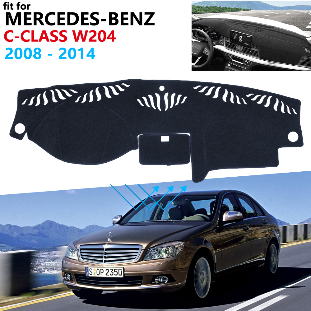 Dashboard Cover Protective Pad For Mercedes Benz C-Class W204 Car Accessories Sunshade Carpet C-Klasse C180 C200 C220 C250 C300