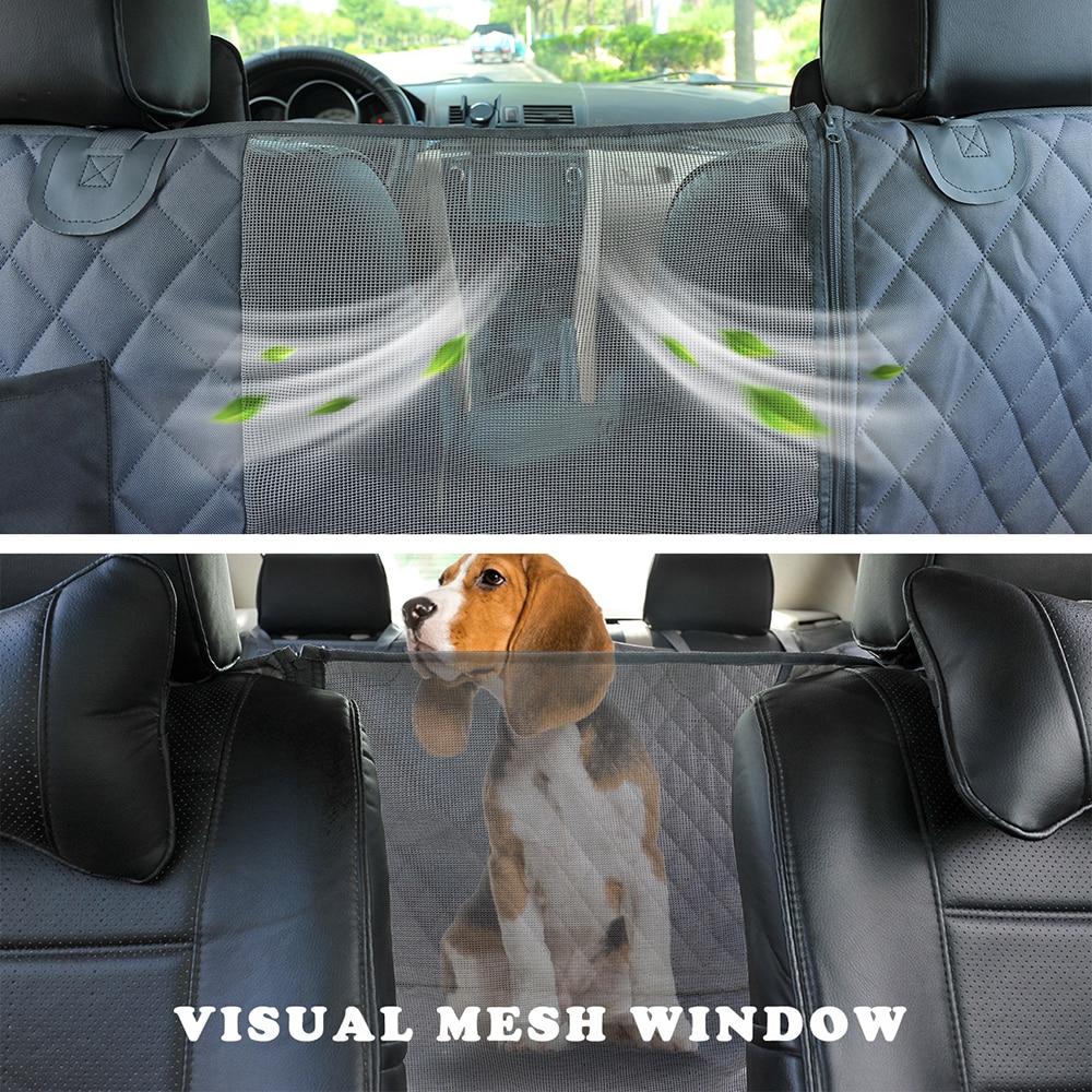 Ha8de5d81d4034e0f8b7af339452ad0f7R Pet Dog Travel Mat - Mesh Dog Carrier Car Hammock