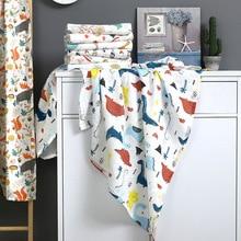 Двухслойные муслиновые хлопковые детские одеяла в виде животных пеленать 110*120 см мягкие банные газовые Детские спальные принадлежности чехол для коляски