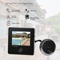 TFT LCD Digital Porta Eye Peephole Doorbell Camera Visão Nocturna do IR Foto Tomando Super Longa Espera para a Segurança Home
