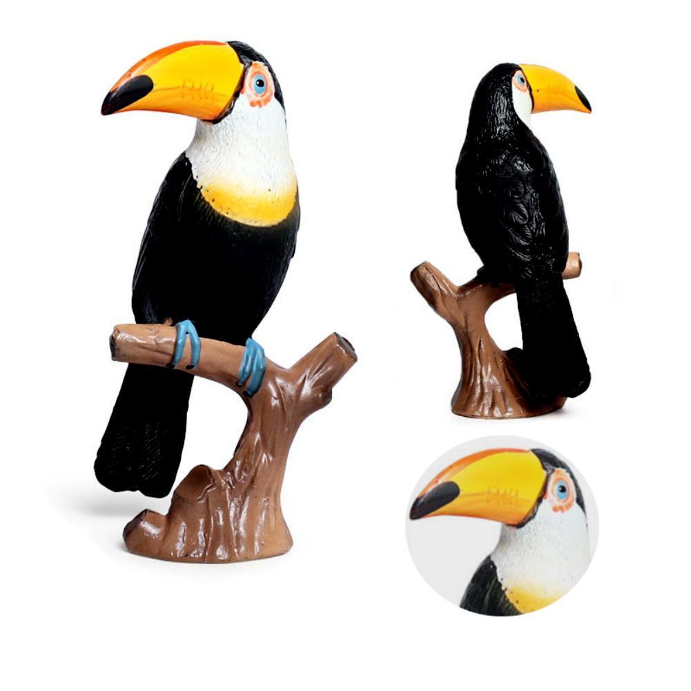 Simulation Toucan Bird Parrot Animal Model Figurine font b Home b font font b Garden b