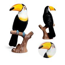 Simulation Toucan Bird Parrot Animal Model Figurine Home Garden Decor Kids Toy