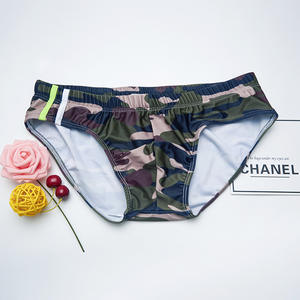 Swimsuit Men Briefs Shorts Fashion Quick-Drying Print Breathable