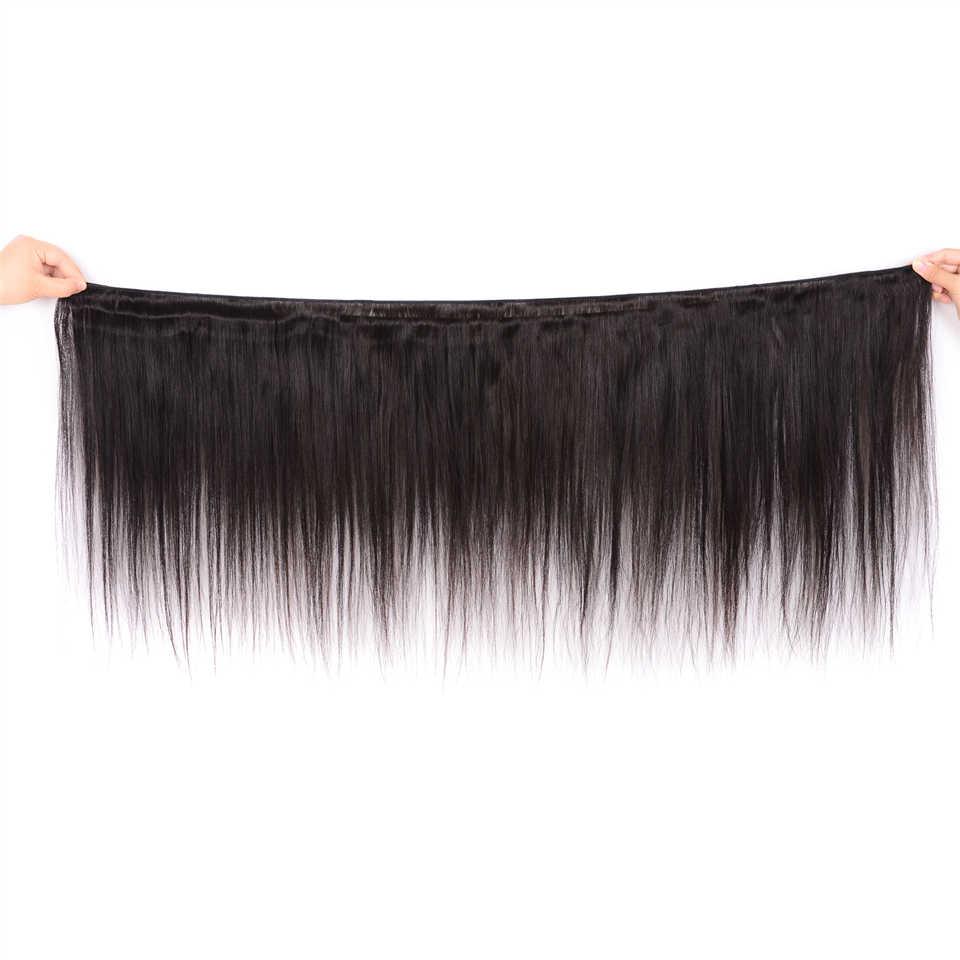 Karizma pelo lacio peruano 4 paquetes con parte libre de cierre 100% extensiones de cabello humano no remy envío gratis