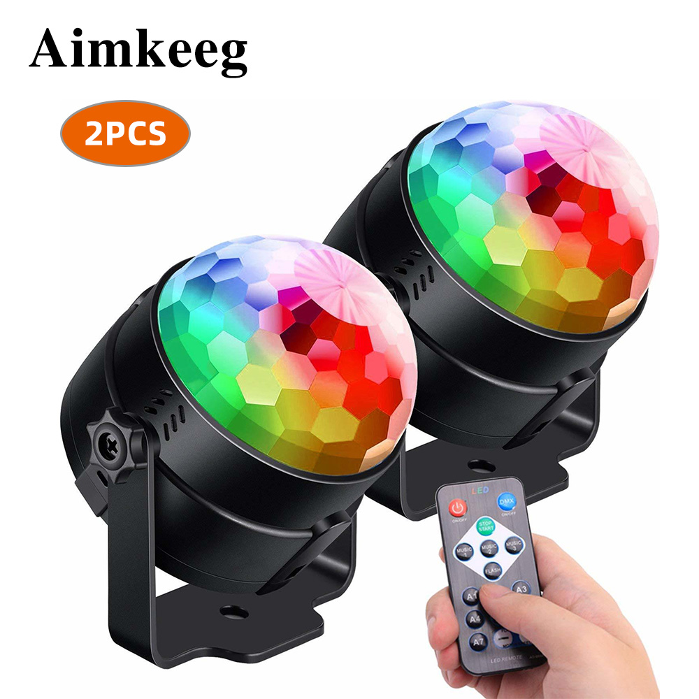 Aimkeeg Led Disco Ball Light Strobe Lamp 7 Modes Stage Led Far Dj Light For Home Room Dance Parties Bar Karaoke Party Show Club