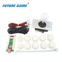 White American style diy tabletop arcade console kit with micro switch for home game