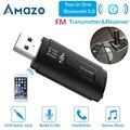 Автомобильный fm-передатчик  Bluetooth аудио адаптер  приемник AUX 3 5 мм  беспроводная связь  FM модулятор  USB порт