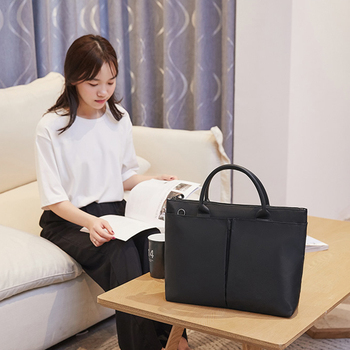 Portable Briefcase Unisex Waterproof Cell Phone Certificate Document Computer Storage Handbag Office Business Goods Accessories green goods stone bracelet too send the certificate