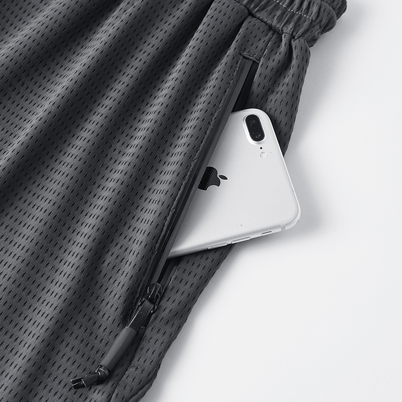 Top SaleSweat Shorts Mesh Grey Black Large Plus-Size Summer 8XL Clothing Breeches Spandex Nylon