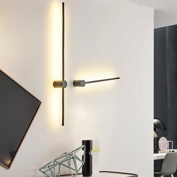 Złoty czarny nowoczesne LED lampki lustrzane łazienka sypialnia zagłówek kinkiet 0 65M ~ 1 45M proste salon kinkiety tanie i dobre opinie FANPINFANDO Dół Kuchnia Jadalnia Bed room Foyer Badania Łazienka Klin 90-260 v Czujnik Aluminium Shadeless wall lamp 104