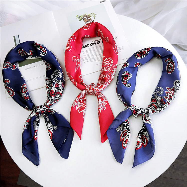 Hair <font><b>Silk</b></font> <font><b>Scarf</b></font> Tie Animal Print Red Love Satin <font><b>70cm</b></font> Small/Square/<font><b>Silk</b></font>/Neck/Ring/<font><b>Scarf</b></font> Winter Head <font><b>Scarf</b></font> for Women Neckerchief image