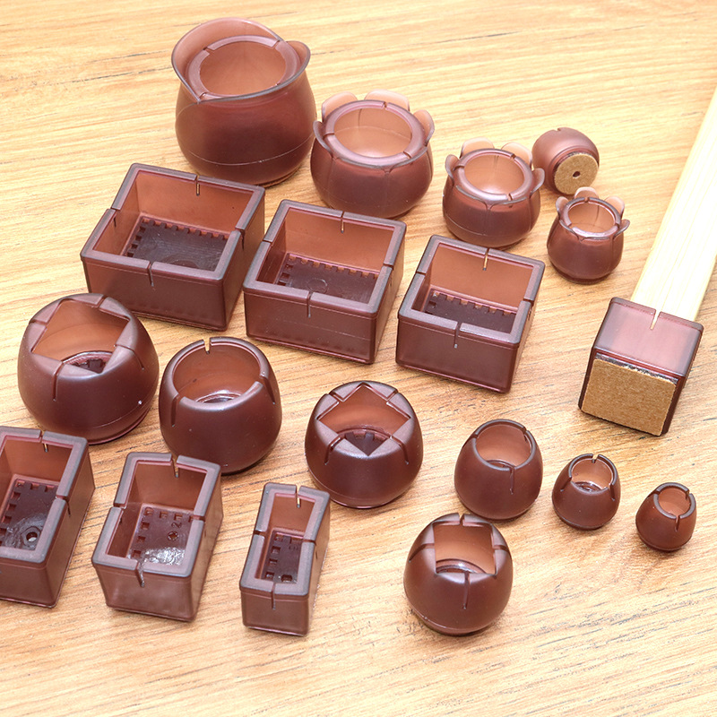 16Pcs Silicone Table Chair Leg Mat Non-slip Table Chair Leg Caps Foot Protection Bottom Cover Pads Wood Floor Protectors