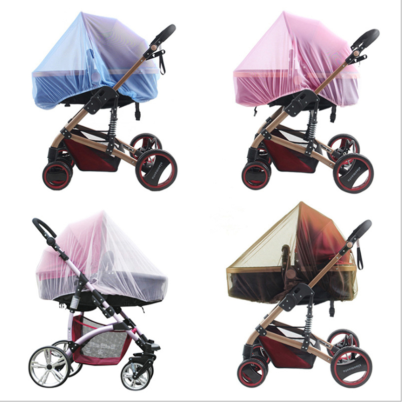 Useful Mesh Buggy Crib Netting Cart Mosquito Net Pushchair Full Cover Net Infants Baby Stroller Pushchair Mosquito Insect Net