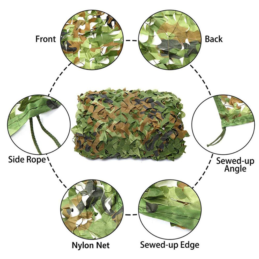Military camouflage nets, shade nets, shade sails, suitable for decoration of camps and courtyards and various places-1