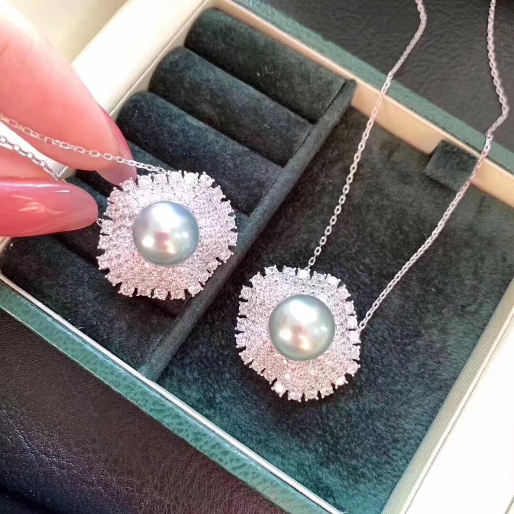 925 bague en argent Sterling pendentif ensemble montures résultats belle parure de bijoux pièces raccords femmes accessoires féminins