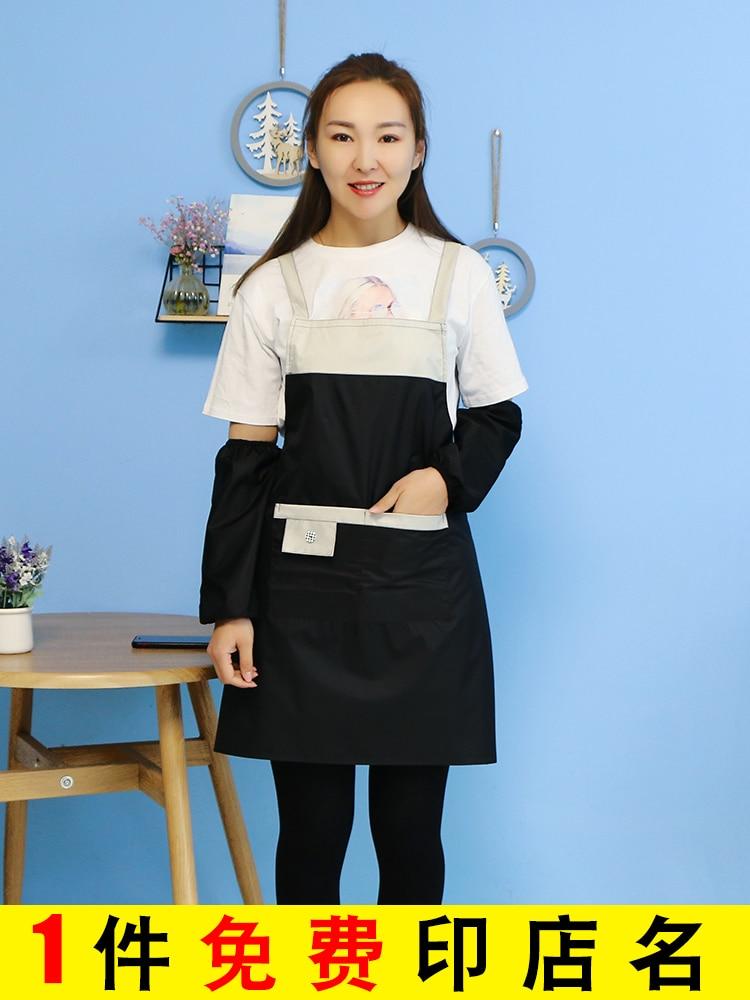 waterproof oil proof apron home kitchen nail milk tea shop female male adult overalls  apron|Aprons| |  - title=