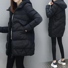 2021 The new listing Women Fashion Long Winter Down Cotton jacket Coat Lady Leisure Style Jacket Pocket Hooded Warm Coats