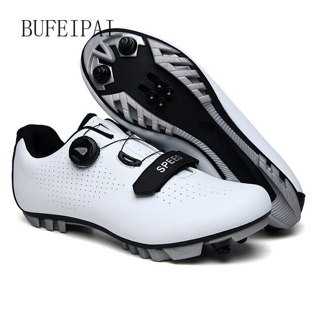 8 profissional Grampo SPD Ciclismo Sapatos MTB Mountain Bike Shoes Não-Slip Ciclismo Sapatilhas Homens Respirável Sapatos de Corrida RoadBicycle 6