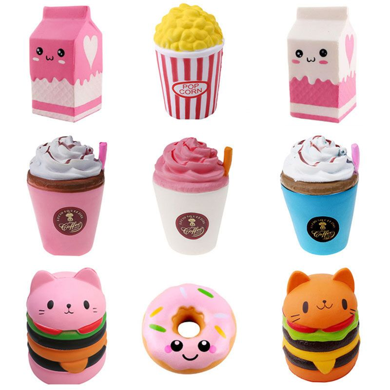 6Pcs Jumbo Kawaii Colorful Galaxy Surprise Squishy Doll Box Filler Slow Rising Stress Relief Squeeze Toys Xmas Gift