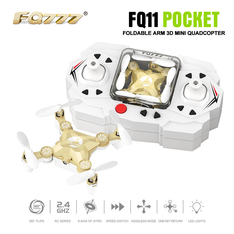 FQ11 Mini Folding Quadcopter 2.4G Children Electric Remote Control Aircraft Model Unmanned Aerial Vehicle Toy