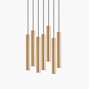 Image 5 - Luces colgantes LED de cilindro regulable, lámparas de tubo largo, decoración de cocina, comedor, tienda, Bar, cordón, lámpara colgante, luces de fondo
