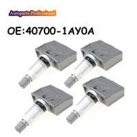 4 unids/lote de piezas de coche TPMS Sensor de presión de neumáticos 40700-1AY0A 407001AY0A para Sensor N issan Infiniti TPMS