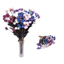 Newly Foam PE 15 Heads/pc Rose Artificial Flowers for Weddin